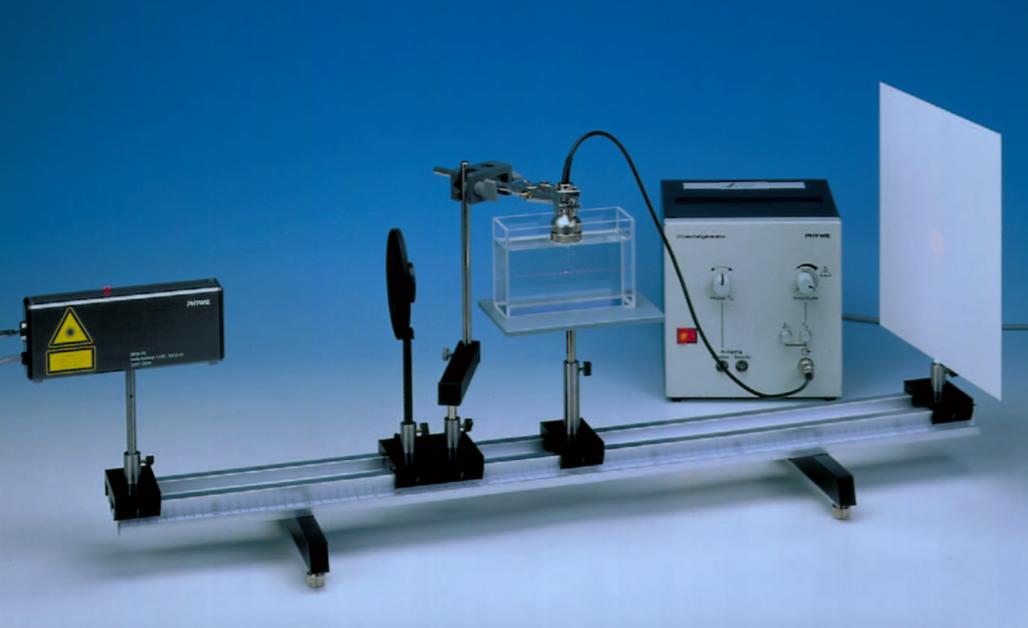 Optical determination of the velocity of sound in liquids